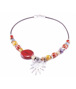 SL298 Choker Sun And Moonred