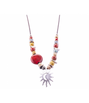 SL299 Necklace Sun And Moonred