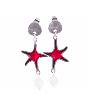 EST377 Earring Color Star Red
